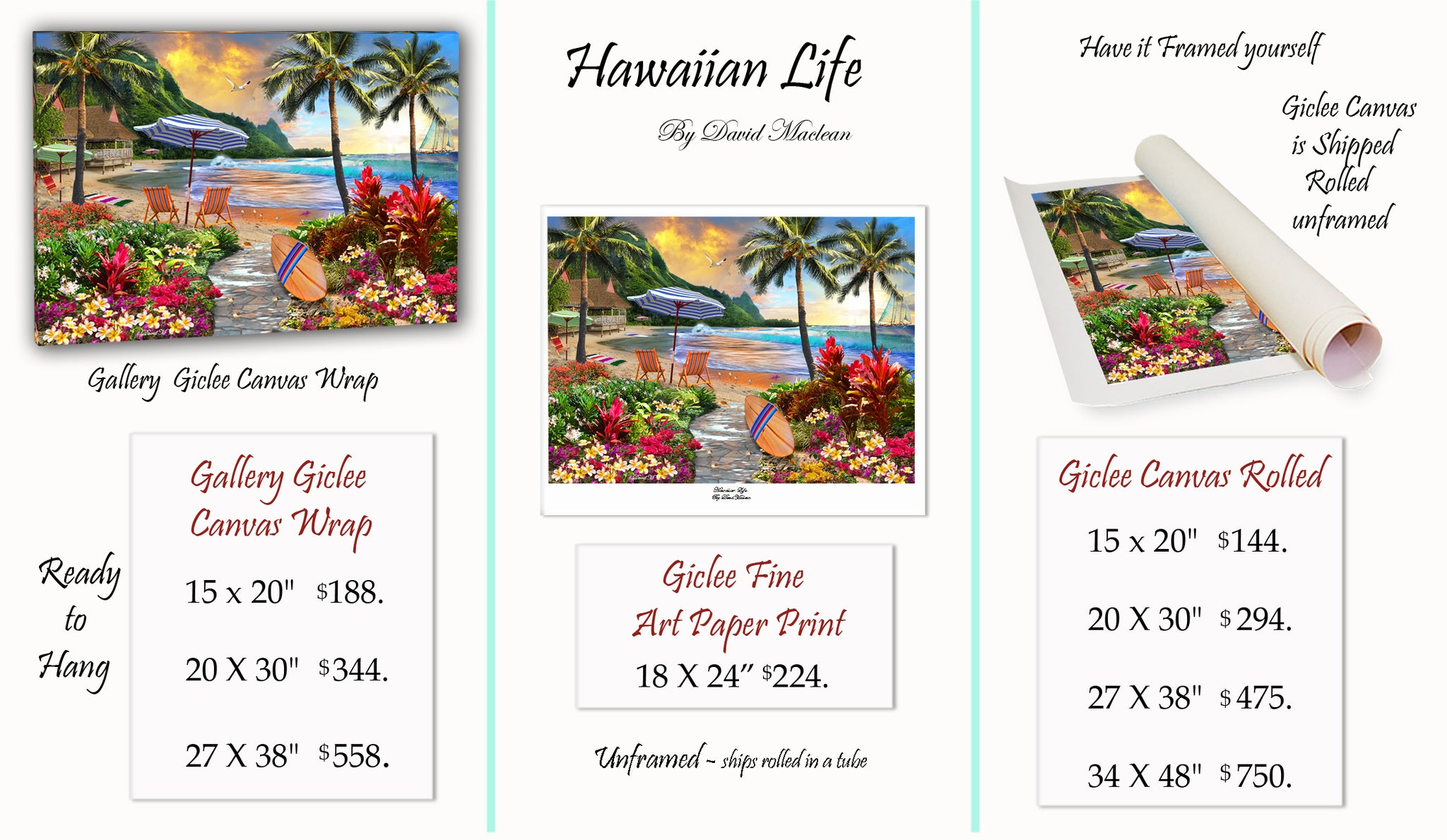 Hawaiian Life  ________________________ Order Options Here