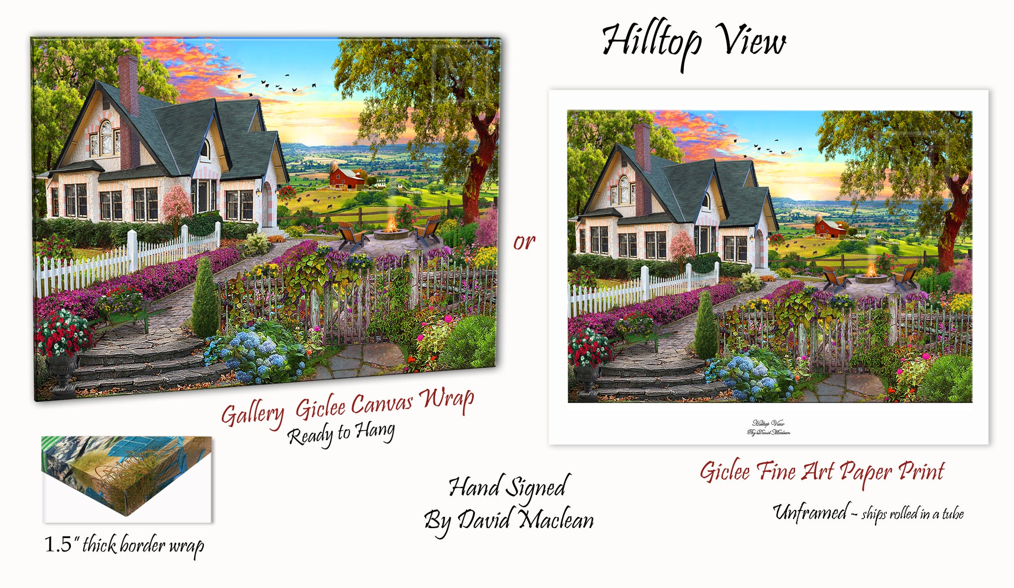 Hilltop View  ________________________ Order Options Here