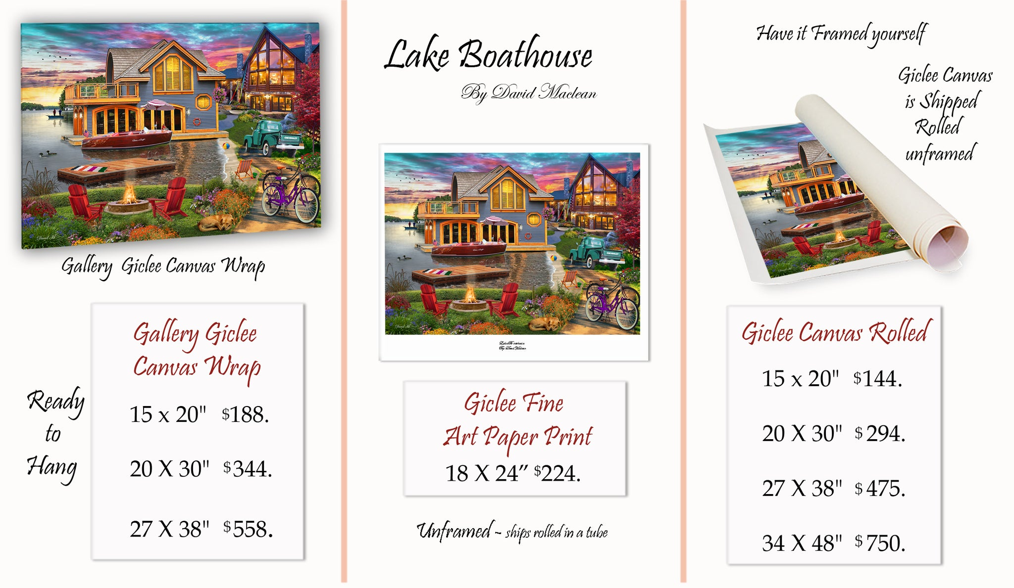Lake Boathouse  ________________________ Order Options Here