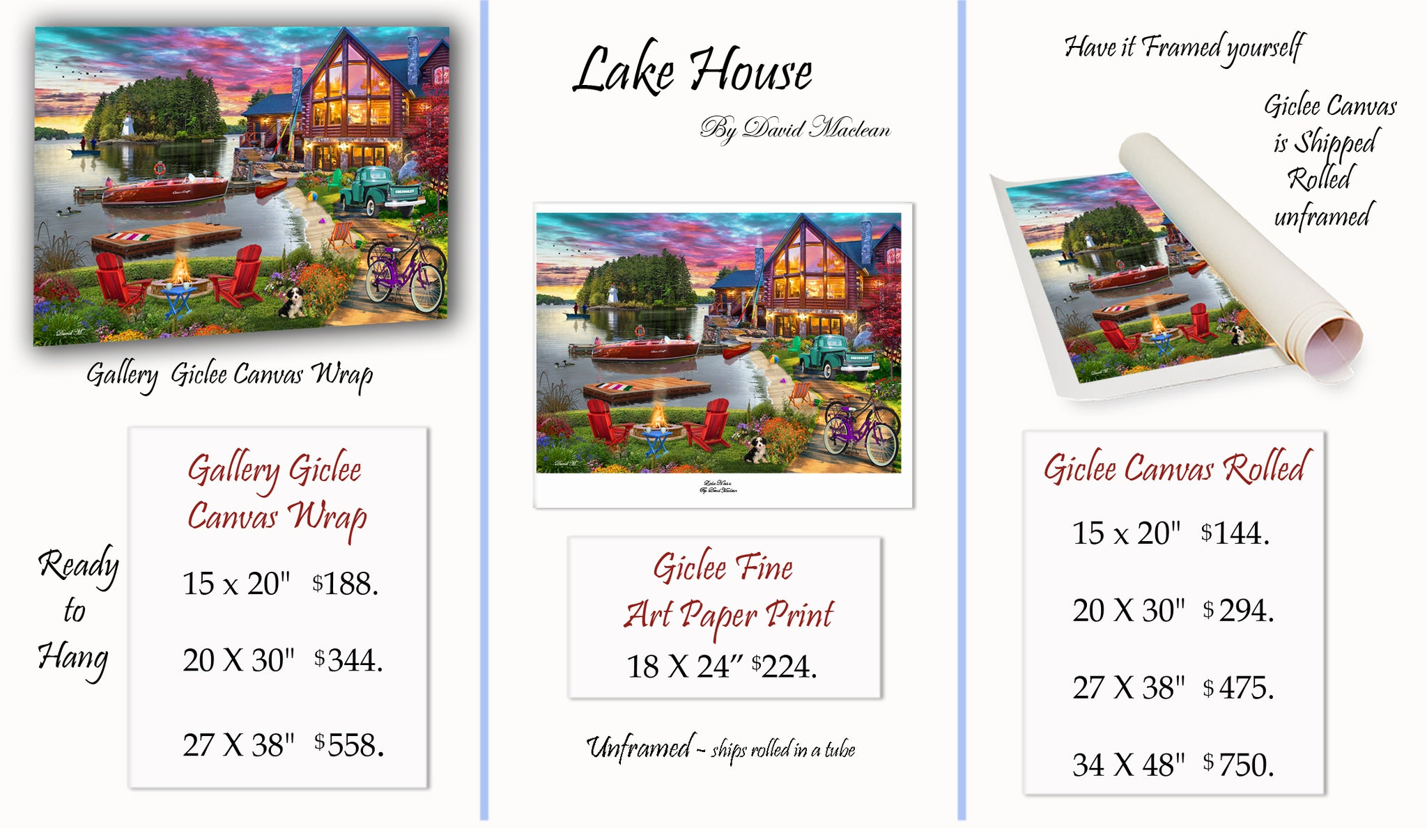 Lake House  ________________________ Order Options Here