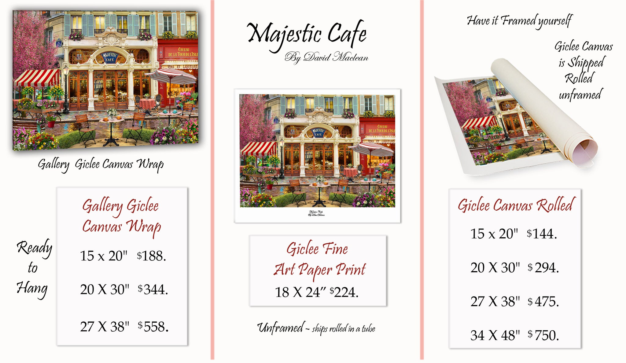 Majestic Cafe  ________________________ Order Options Here