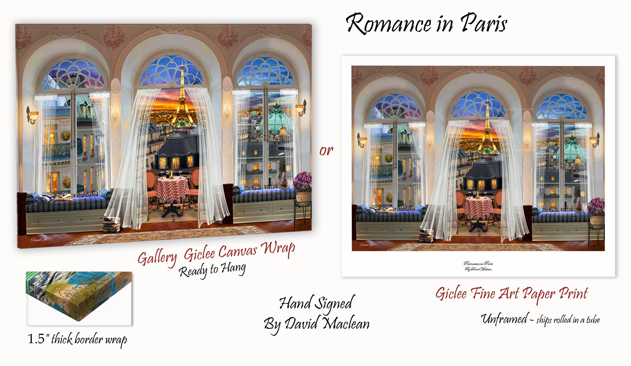 Romance in Paris  ________________________ Order Options Here