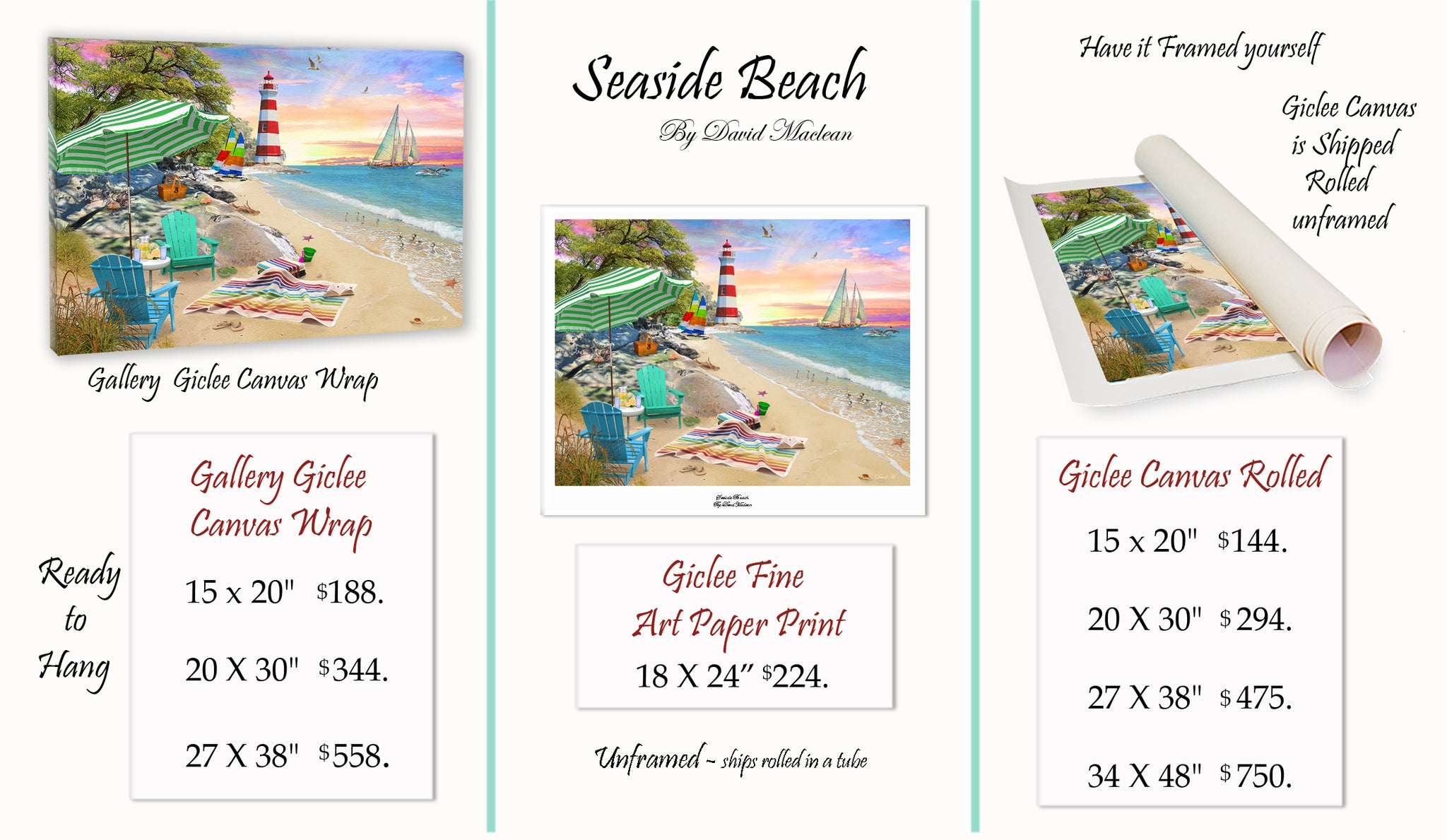 Seaside Beach  ________________________ Order Options Here