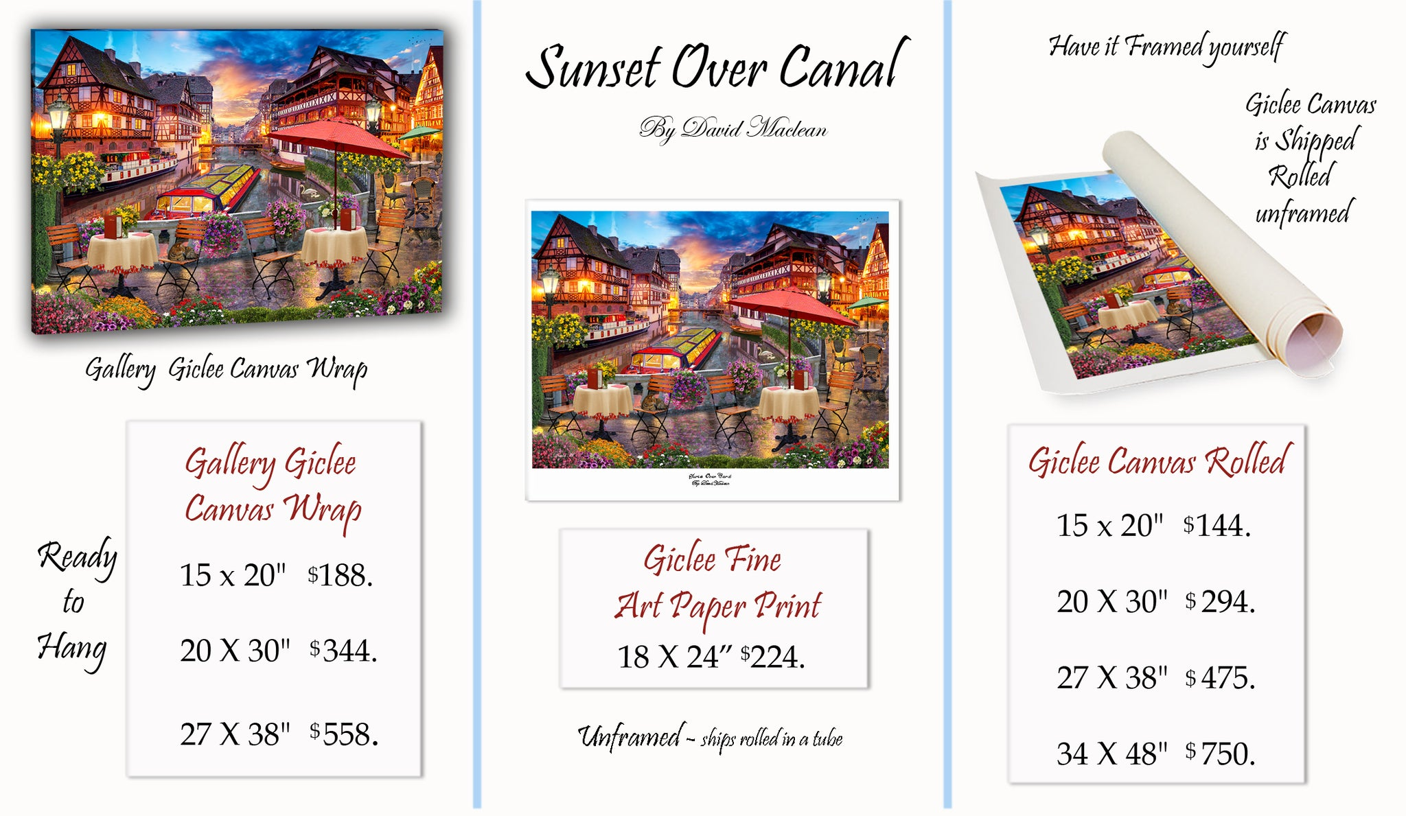 Sunset Over Canal  _____________________    Order Options Here