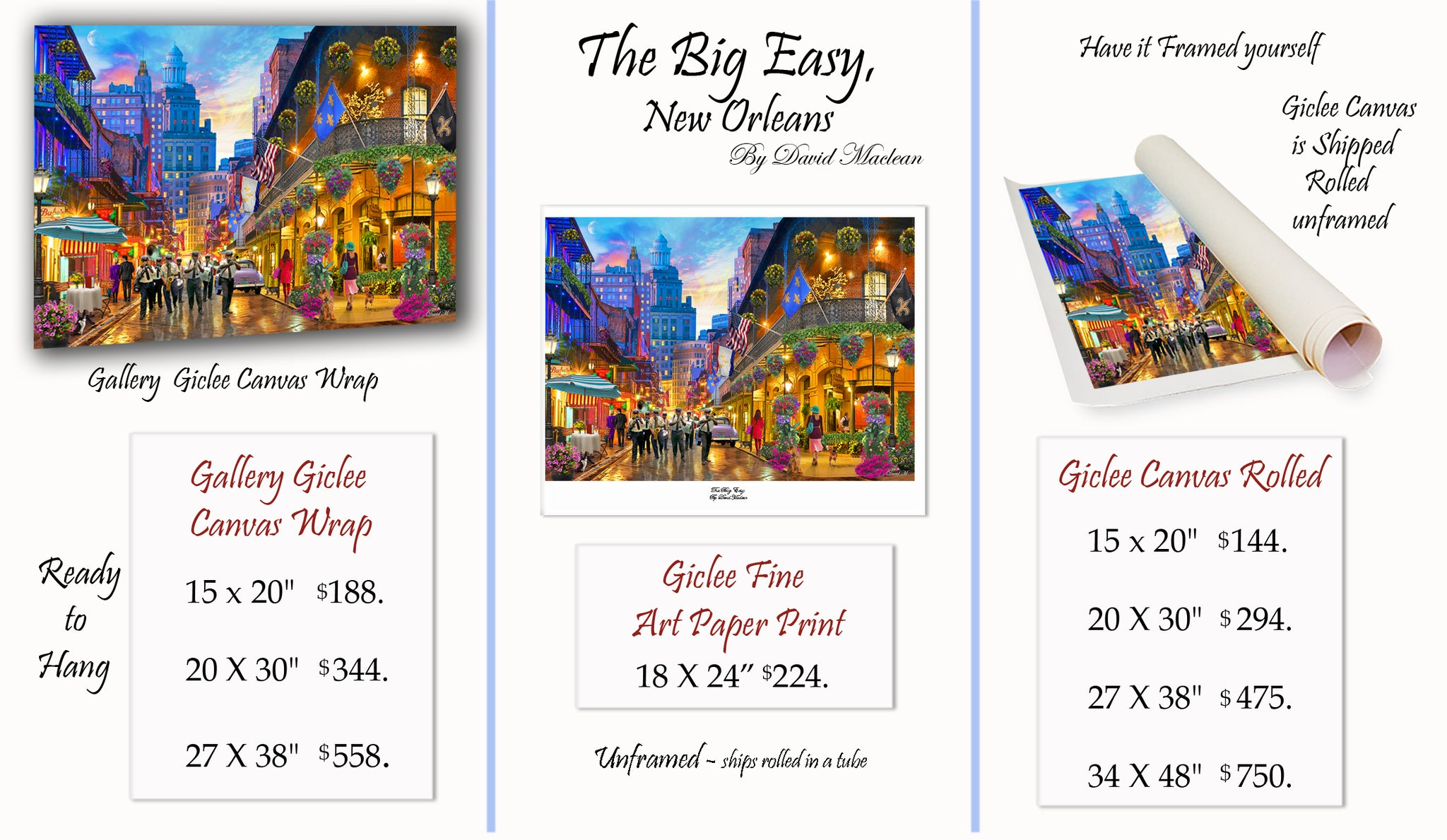 The Big Easy, New Orleans  ________________________ Order Options Here