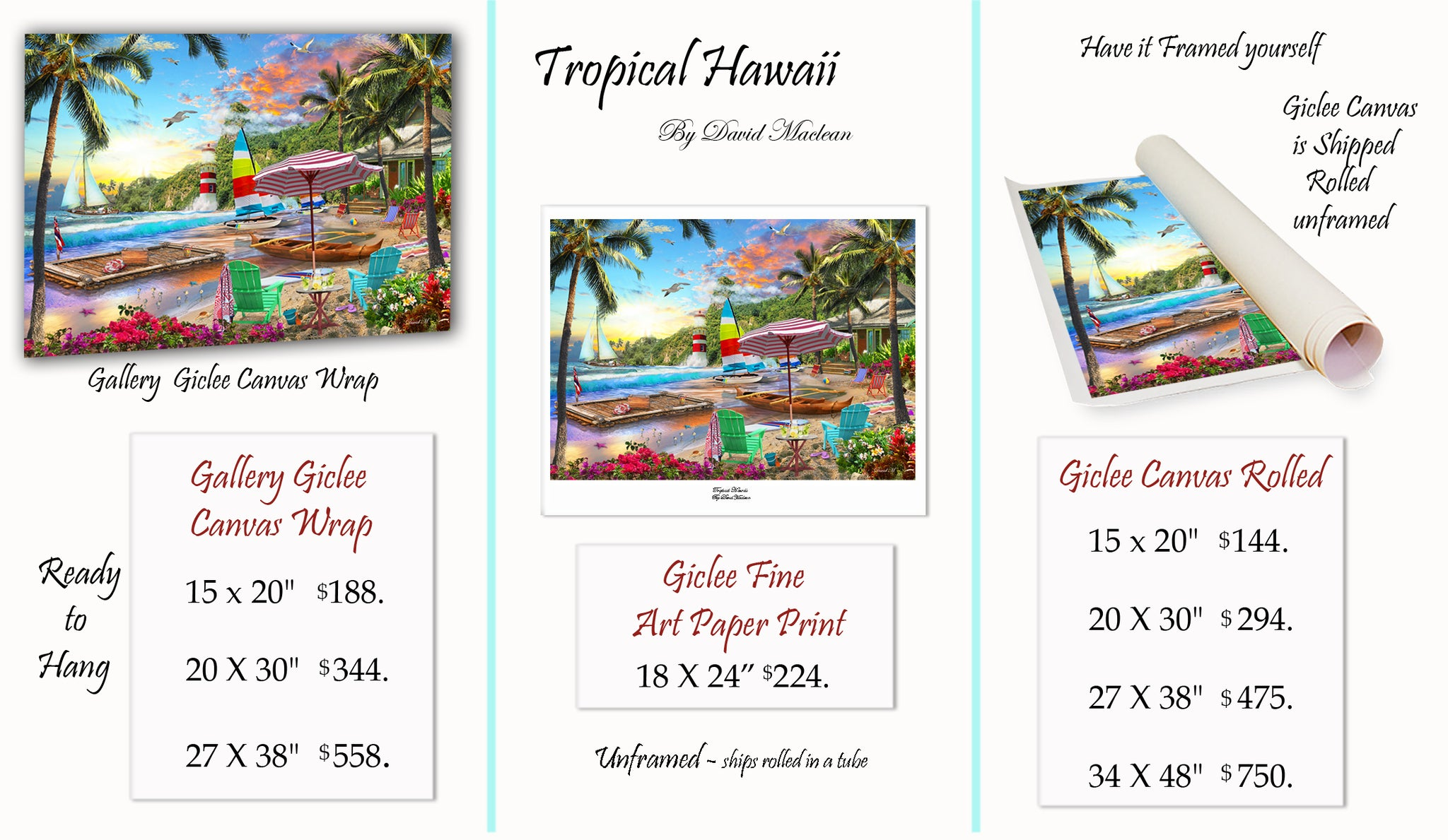 Tropical Hawaii  ________________________ Order Options Here