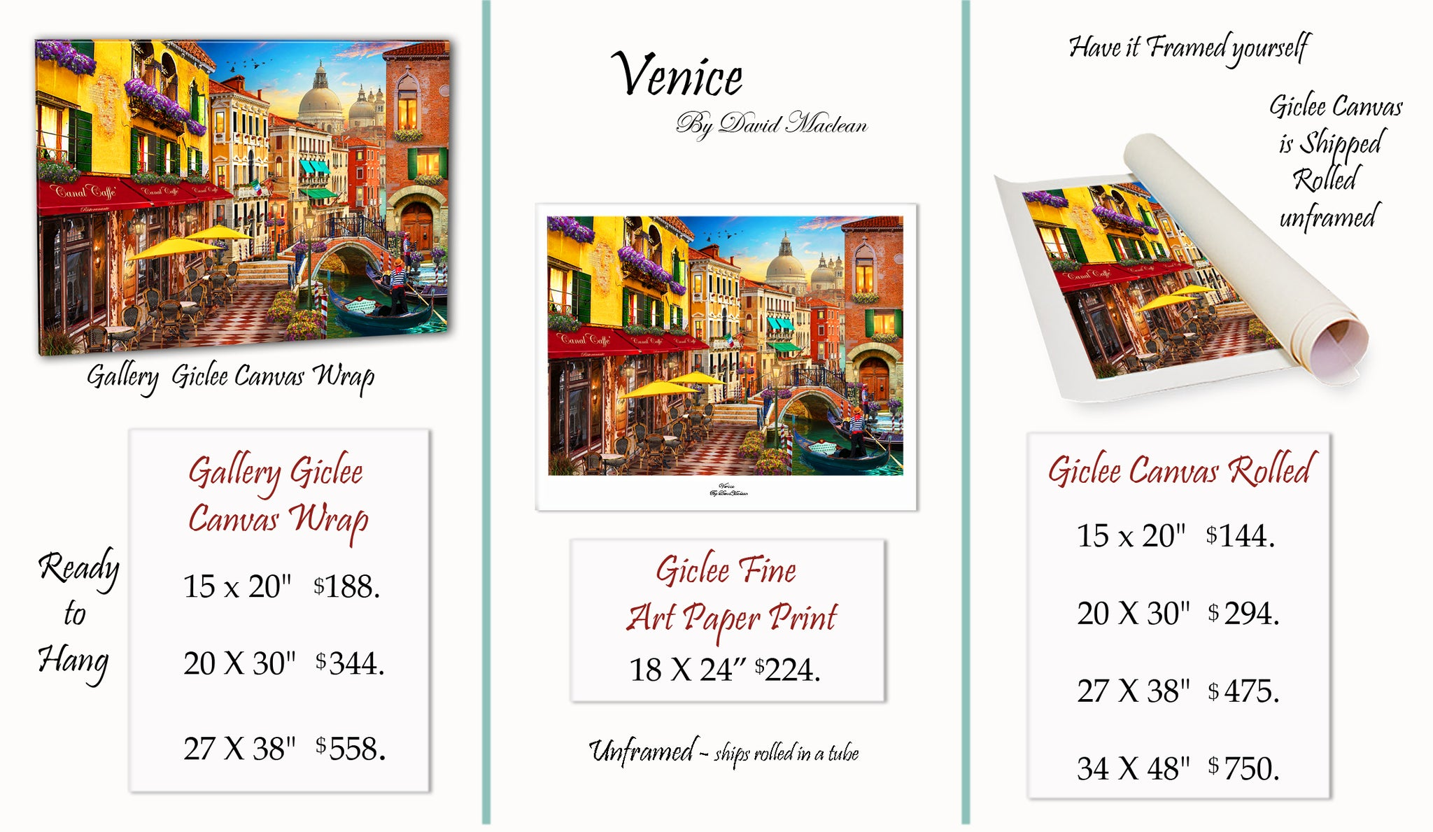 Venice  ________________________ Order Options Here