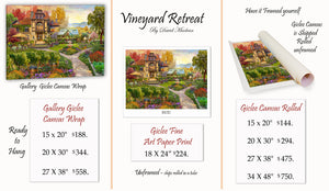 Vineyard Retreat   _____________________    Order Options Here