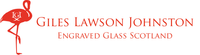 Giles Lawson Johnston Scotland Specialist luxury Engraved Glass Red flamingo Logo GLJ initials beautiful glassware original designs