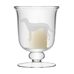 Dog silhouette Small Candle Lamp