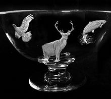 Specialist Hand Engraved Bowl with Stag, Salmon and Grouse