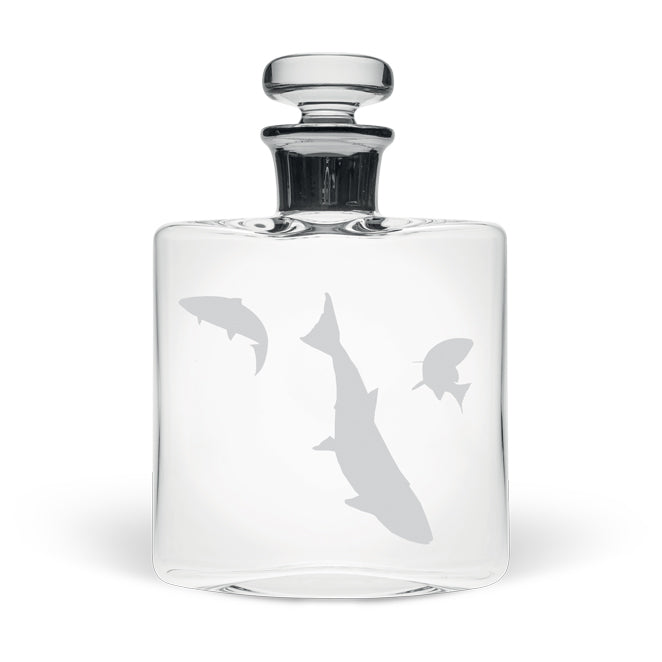 Salmon Scene Small Flask Decanter