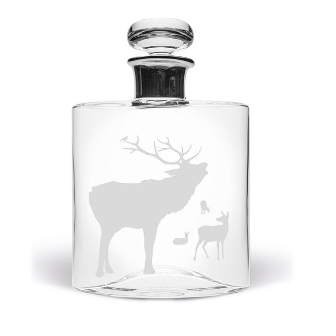 Stag and Hinds Large Flask Decanter