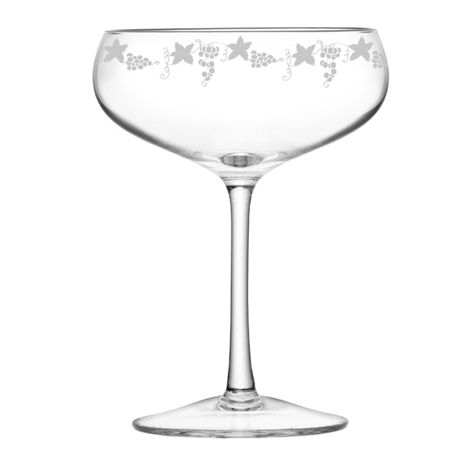 Grapevine Engraved Champagne Glass