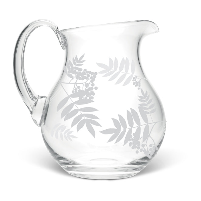 Rowan Leaves Large Crystal Jug
