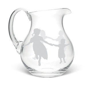 Dancing Children Crystal Jug