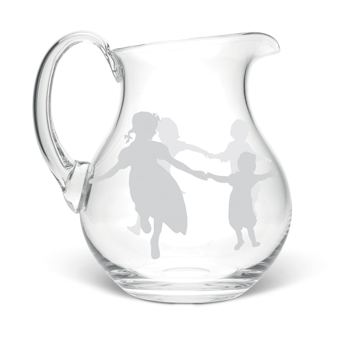 Dancing Children Large Crystal Jug