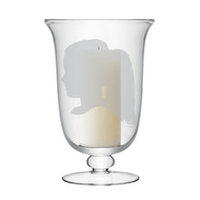 Child Silhouette Large Candle Lamp | Child Silhouette Candle Lamp Giles Lawson Johnston Engraved Glass