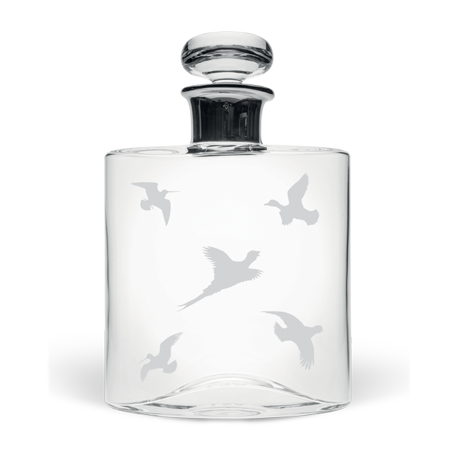 Game Birds Large Flask Decanter