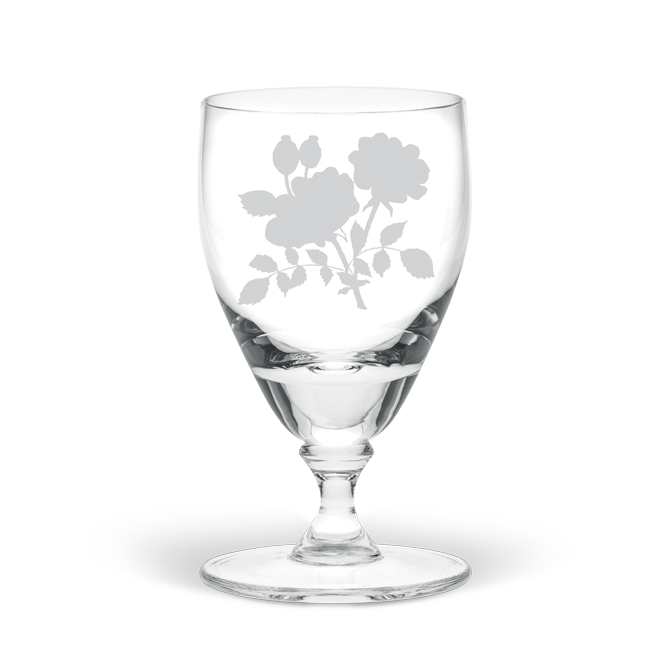 Dog-Rose Flower Large Wine Glass