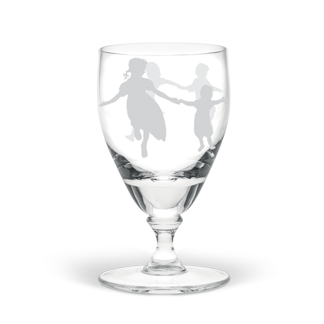 Dancing Children Large Wine Glass