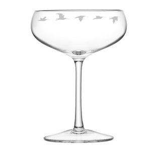 Curlew Engraved Champagne Glass