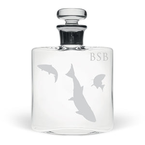 Personalised Salmon Small Flask Decanter