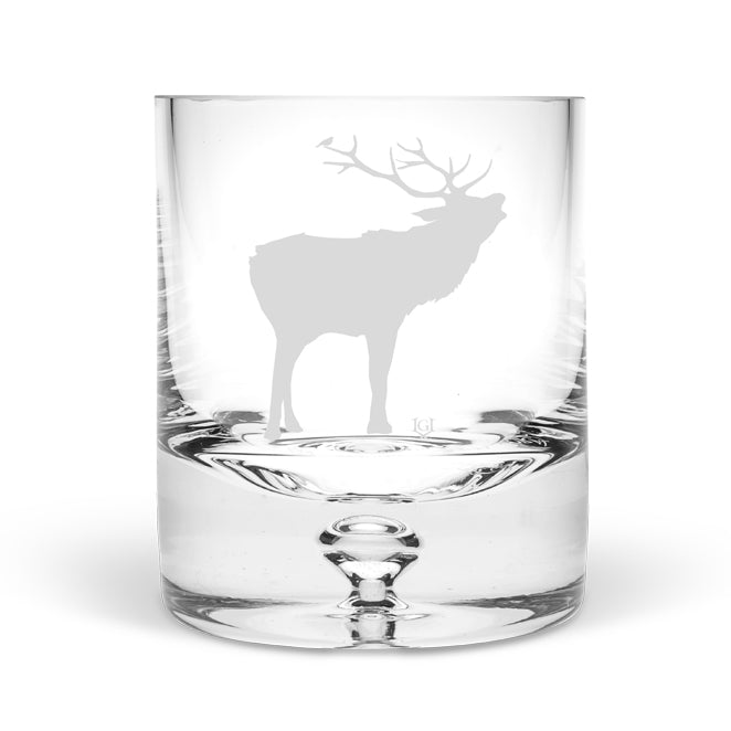 Stag Roar Hand Blown Tumbler