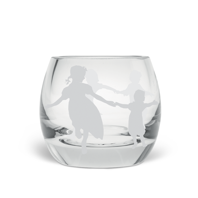 Dancing Children Tea Light Holder