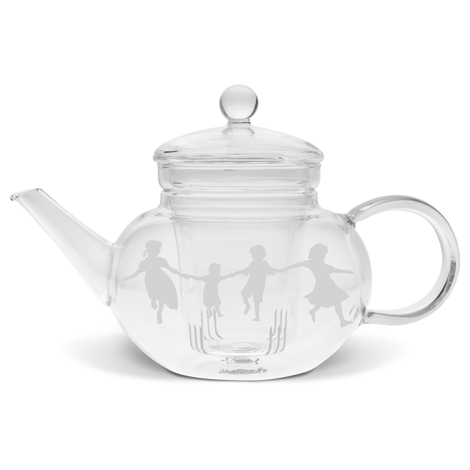 Dancing Children Tea Pot