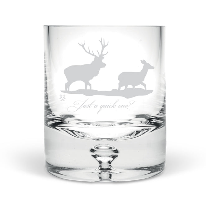 Stag and Hind Hand Blown Tumbler