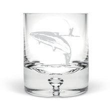 Fisherman and Salmon Hand Blown Tumbler