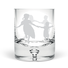 Dancing Children Hand Blown Tumbler