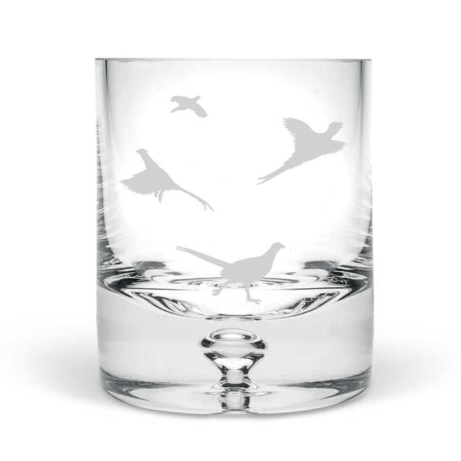 Game Bird Hand Blown Tumbler