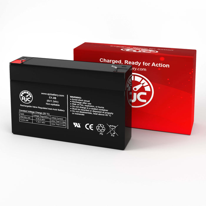 Kung Long WP1.3-6 6V 1.3Ah Sealed Lead Acid Replacement Battery-2