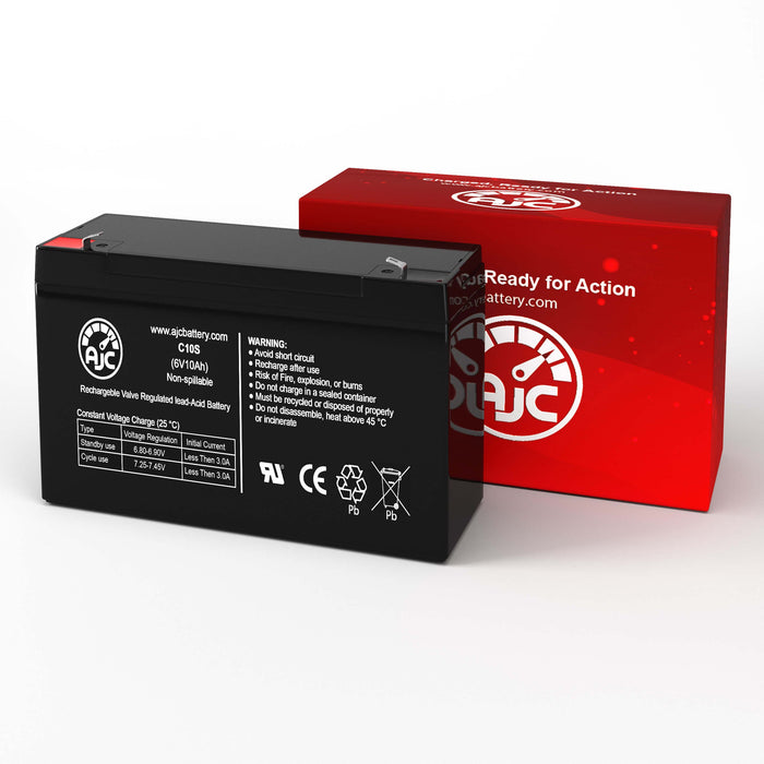 Portalac PE106R 6V 10Ah Emergency Light Replacement Battery-2