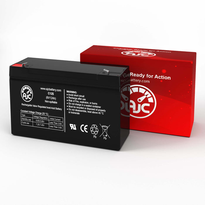 Leoch DJW6-12 6V 12Ah Sealed Lead Acid Replacement Battery-2