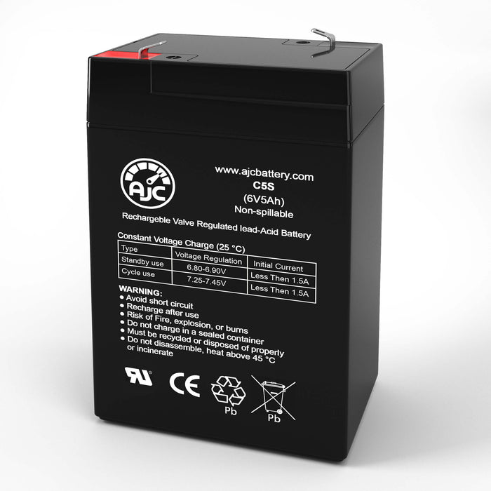 National Power GS012P3 6V 5Ah Emergency Light Replacement Battery
