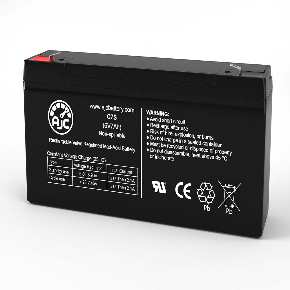 Kung Long WP8-6S 6V 7Ah Sealed Lead Acid Replacement Battery