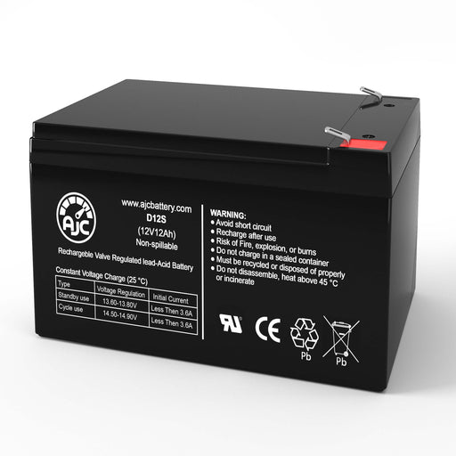 Jack Palmer Industries Shopper Electric 3-Wheel Trike 12V 12Ah Mobility Scooter Replacement Battery