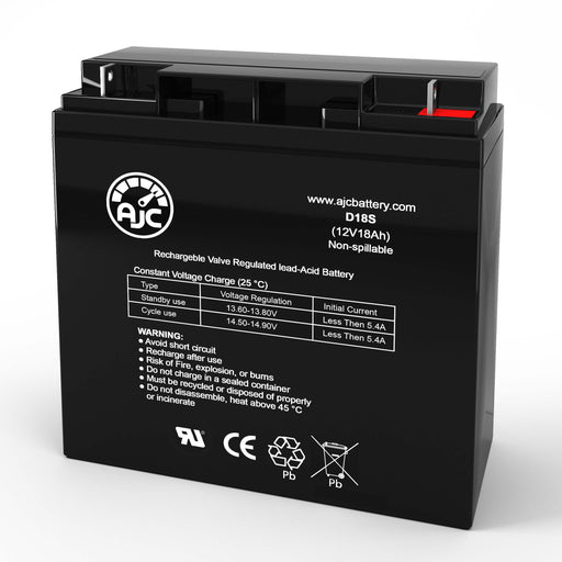 Genesis NP18-12 12V 18Ah Wheelchair Replacement Battery