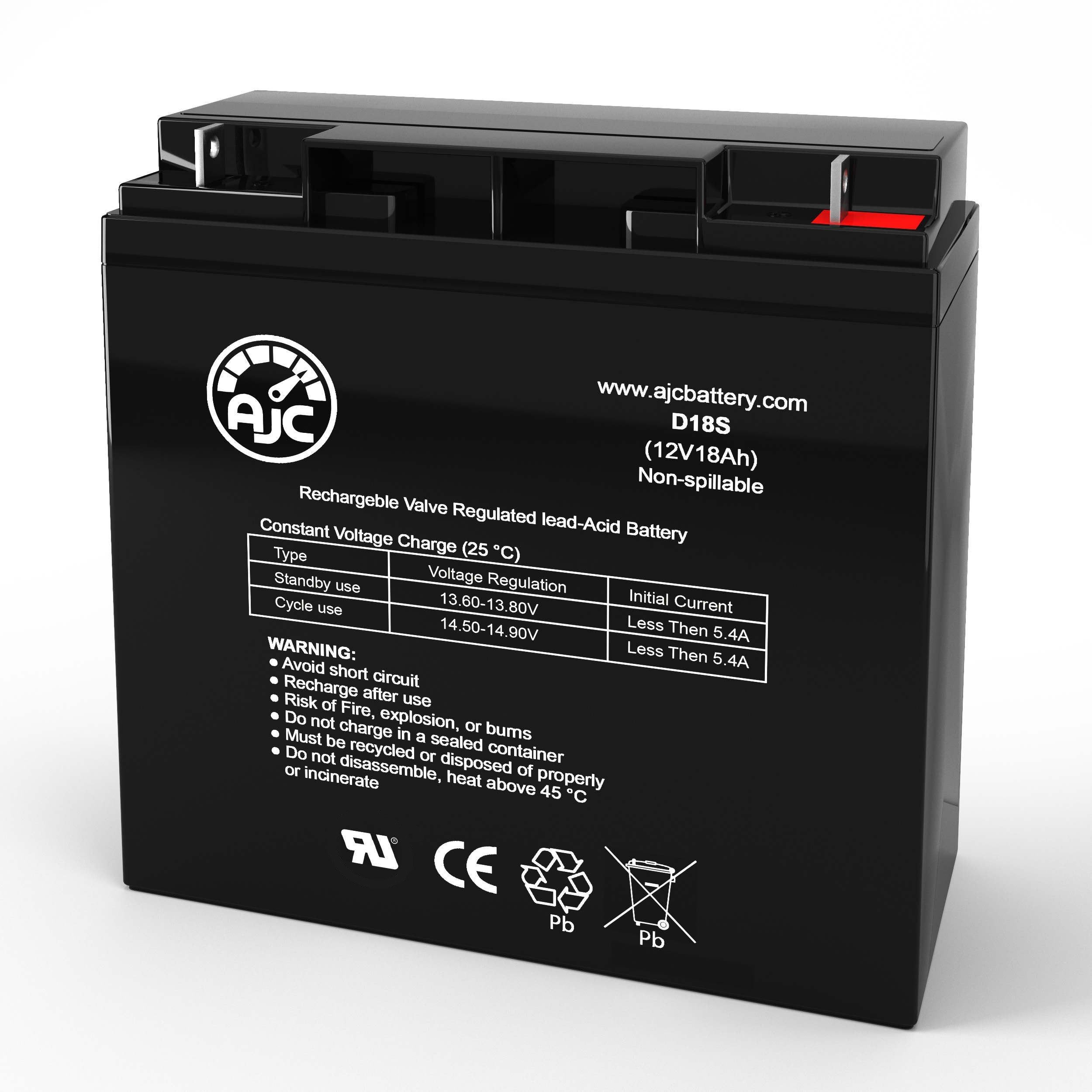 TaoTao ATE-502M 12V 18Ah Electric Scooter Replacement Battery