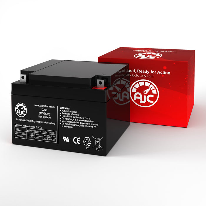 MK M12260 SLD M 12V 26Ah Sealed Lead Acid Replacement Battery-2