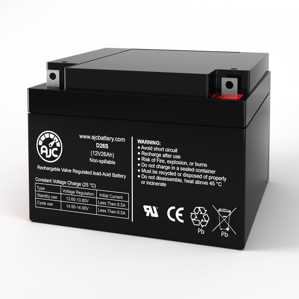 Kung Long WP28-12 12V 26Ah Sealed Lead Acid Replacement Battery