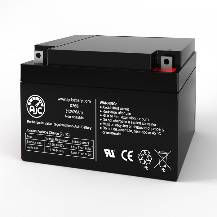 FirstPower FP12260 12V 26Ah Sealed Lead Acid Replacement Battery