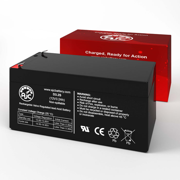 Global Yuasa ES3.2-12 12V 3.2Ah Sealed Lead Acid Replacement Battery-2