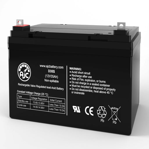 Optiway Technology 2000 Mini U1 12V 35Ah Wheelchair Replacement Battery