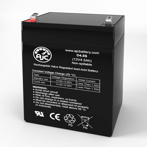 Enduring 6FM4.5 12V 4.5Ah Mobility Scooter Replacement Battery