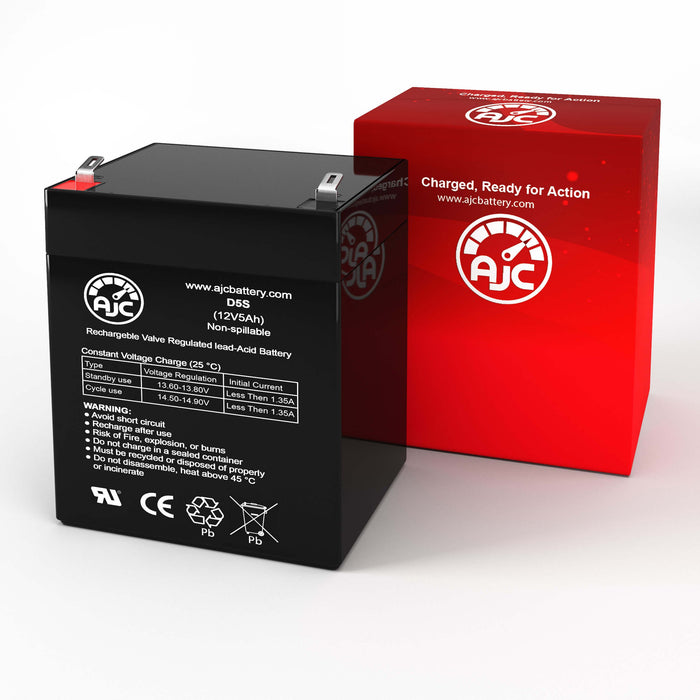 Kung Long WP4512 12V 5Ah Sealed Lead Acid Replacement Battery-2