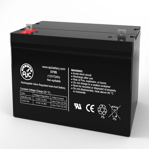 Wheelchairs of Kansas BCWPR-Power Chair 12V 75Ah Wheelchair Replacement Battery